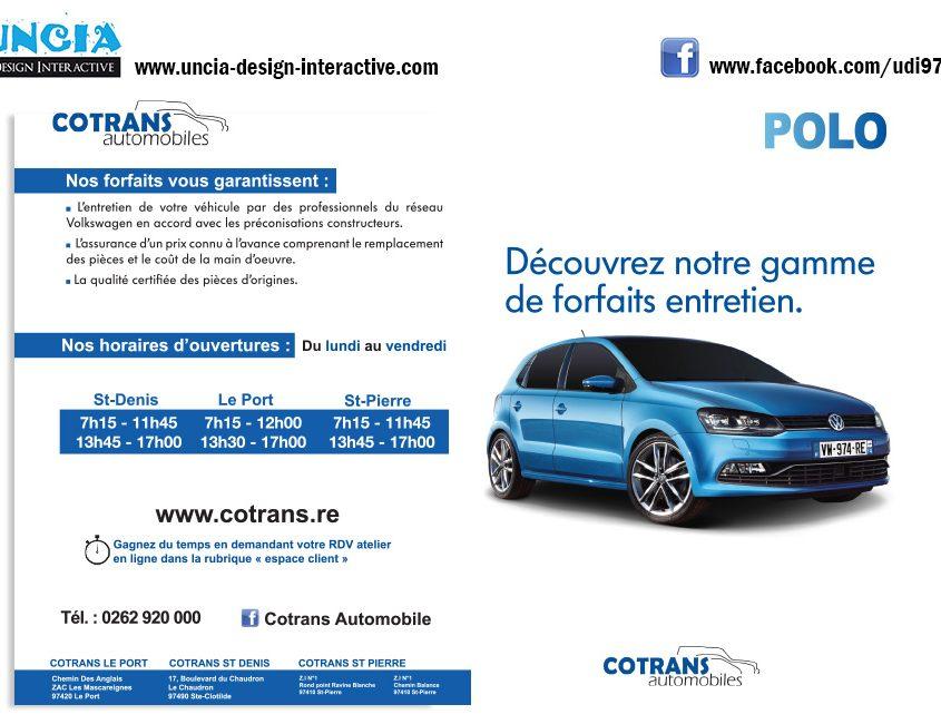 Publicité Réunion : Flyers pour Cotrans. (par Uncia Design Réunion)