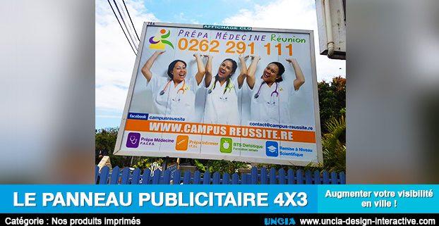 Publicité Réunion - Panneau Publicitaire 4 x 3