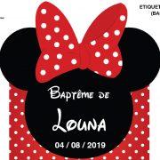 Carte Baptême Minnie